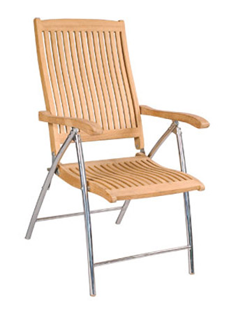 Five Posittion Chair With S.S Legs