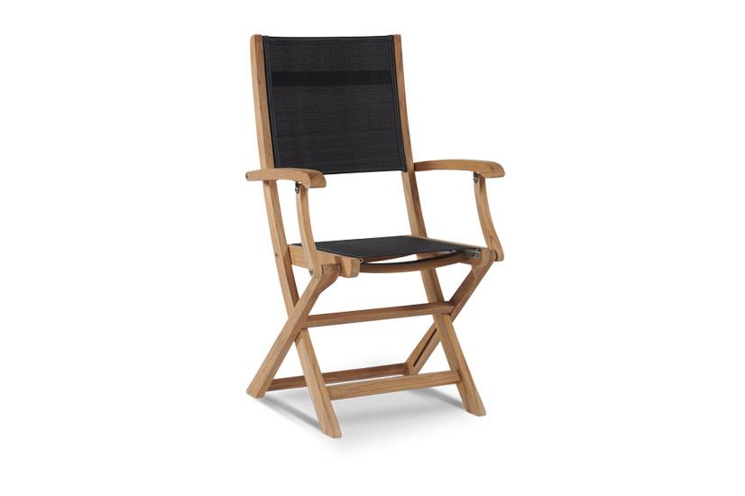 Folding Armchair With Textilene