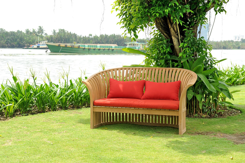 Spring Bench With Seat Cushion