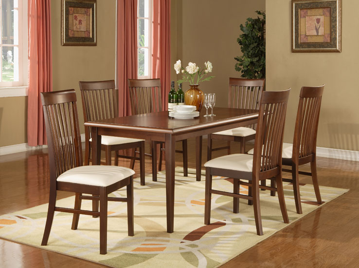 Dining Table and 7-Slats Chair