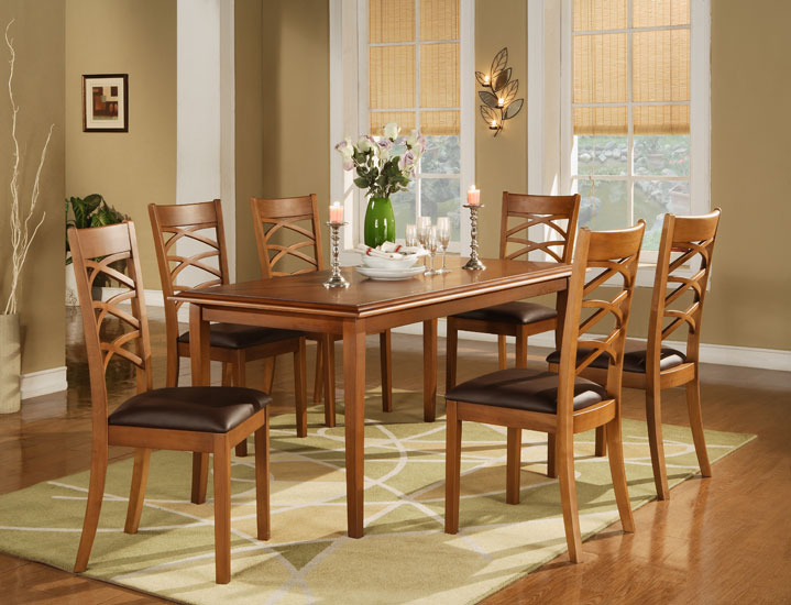 Dining Sets: Table and X-Slat Chair