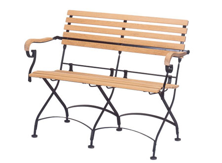 Two Seater Bench With Iron Frame