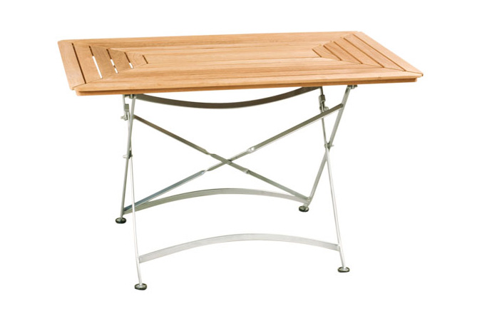 Rectangular Folding Table With Iron Frame