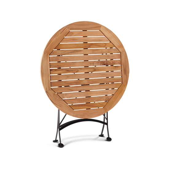 Round Folding Table With Iron Frame