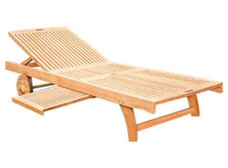 Sunlounger With Side Table