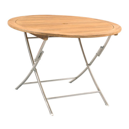 Round Folding Table With S.S Legs