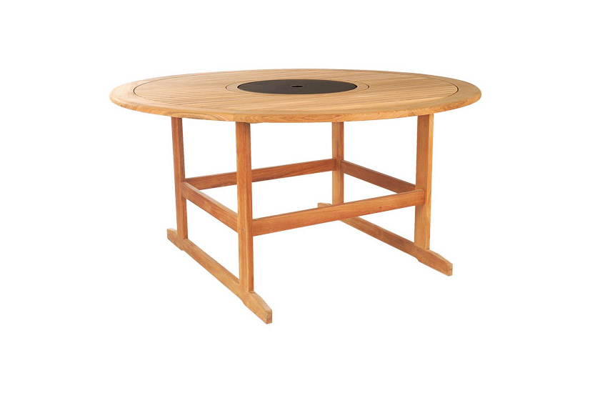 Round Table With Small Granit Top