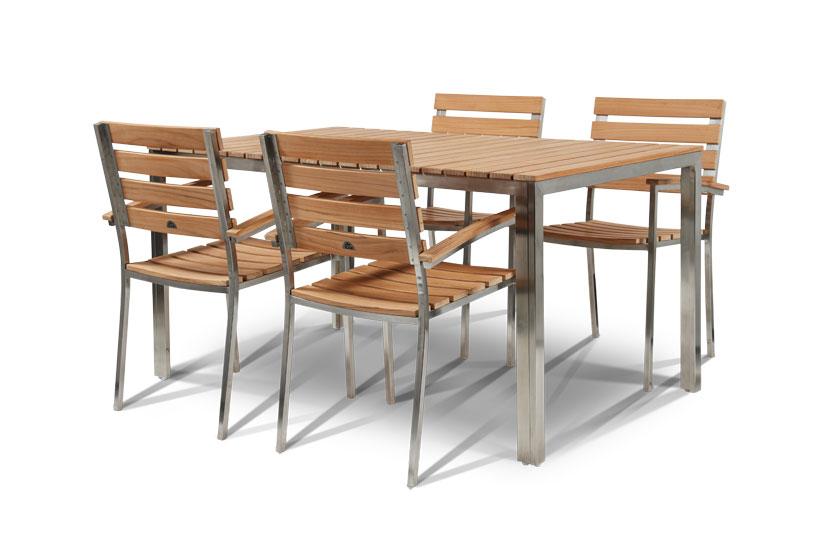 Al Fresco Set: Stainless Steel Garden Set