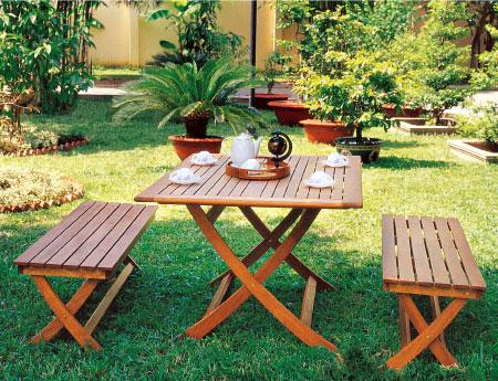 Rectangular Table & Bench