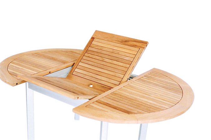Oval Extension Table With Alu Legs