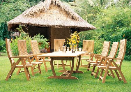 U Rectangular Table & Five Posittion Chair
