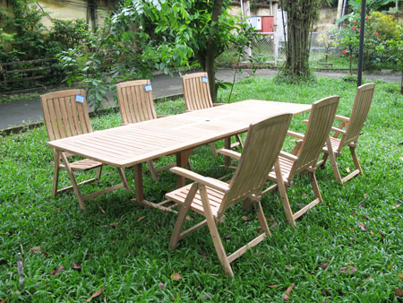 Rectangular Extension Table & Seven Position Chair