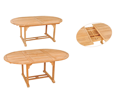 Oval Double Extension Table