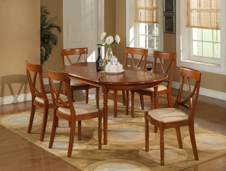 Oval Dining Table & Dining Chair