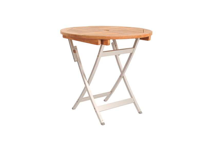 Round Folding Table With Alu Legs